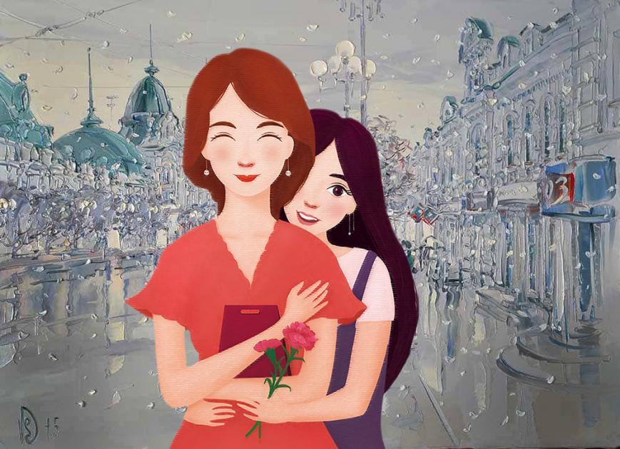Культурный выходной для любимой мамы